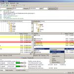 Screenshot vom Filezilla Programm in der Hauptmenüansicht