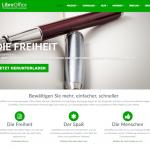 Screenshot der Webseite von LibreOffice
