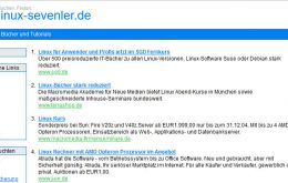 linux-sevenler.de Webseiten Screenshot