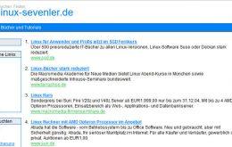 linux-sevenler.de Webseiten Screenshot