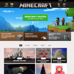 Screenshot der Minecraft.net Webseite