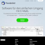 Screenshot vom Thunderbird Bereich auf mozilla.org