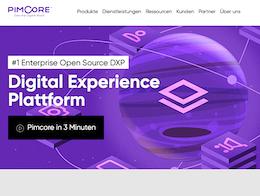 Pimcore PIM System Screenshot der Webseite