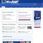 Screenshot der Webseite winrar.de