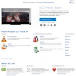 Screenshot der offiziellen Webseite vom VLC Media Player